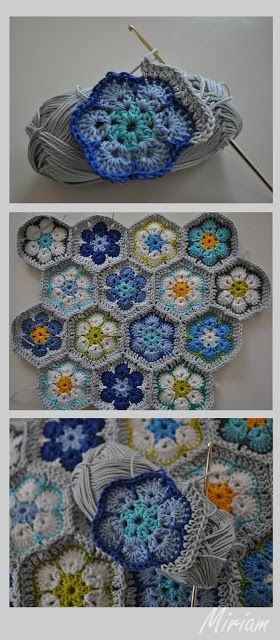 't Bezige Bijtje: Haken - I TOTALLY want an afghan that's made like this.  Gorgeous and intricate and just a glorious use of yarn!: