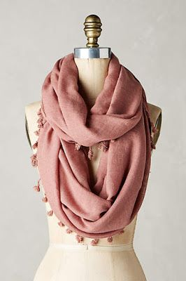 #anthrofave: Favorite New Arrival Clothes, Shoes, Bags, Accessories ~ Blush scarf with pom poms