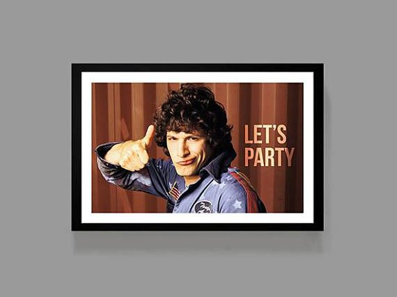 HOT ROD Poster  Let's Party Quote Print  Rod Kimble