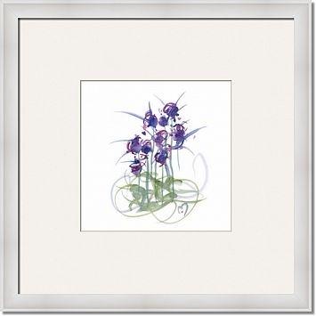 Atom Flowers No39 By MARINA KANAVAKI framed artwork at ImageKind.com
