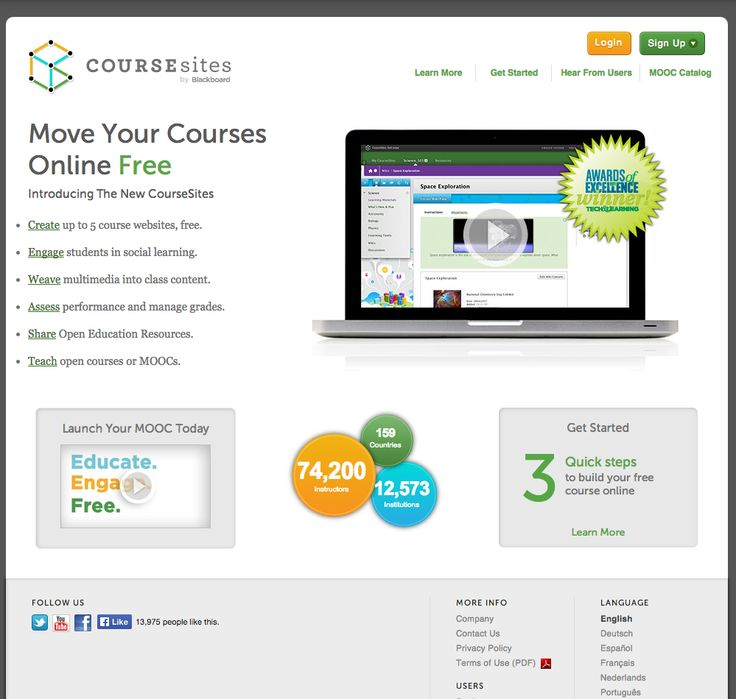 CourseSites is Blackboards entry into the MOOC market.