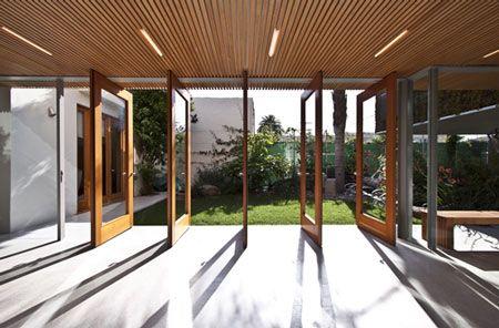 Great patio door idea.