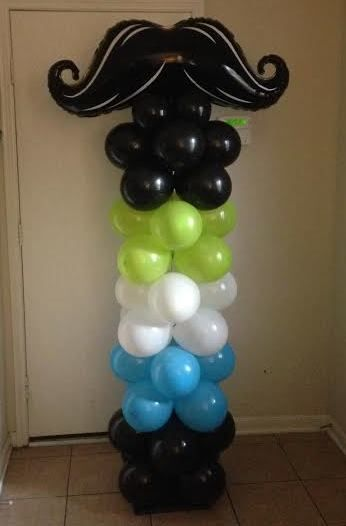 Mustache balloon column