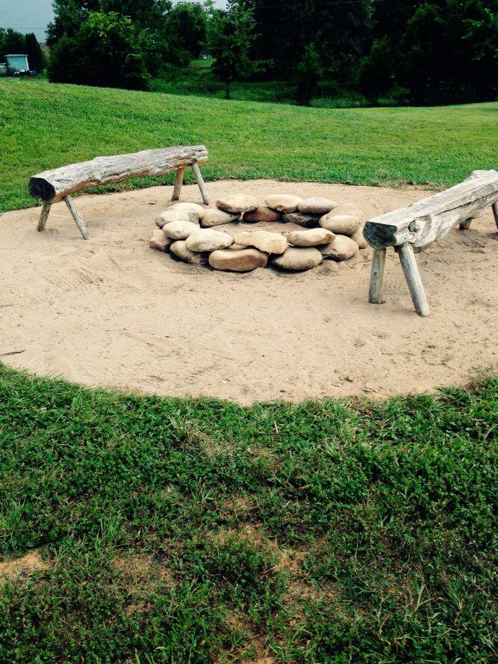 Best Rock Fire Pits Ideas On Pinterest Fire Pit Area Fire - Concrete outdoor fireplace river rock fire bowl from restoration hardware