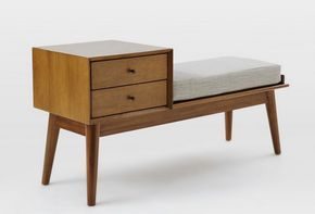 Furniture Finds: Mid-Century Storage Bench from West Elm