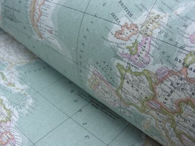 The 56 best tinsmiths fabrics images on pinterest curtain fabric atlas double width world map gumiabroncs Images