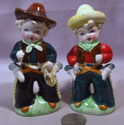 Vintage Cowboy & Cowgirl Salt & Pepper Shakers