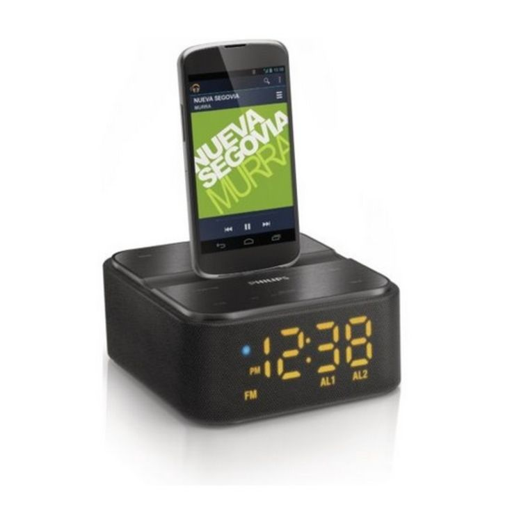 Wireless Speaker Dock in black by Philips. Neodymium speakers for pure balanced sound. Wireless music streaming via Bluetooth. FM digital tuning with presets. Audio-in for easy portable music playback. http://www.zocko.com/z/JKQ8A