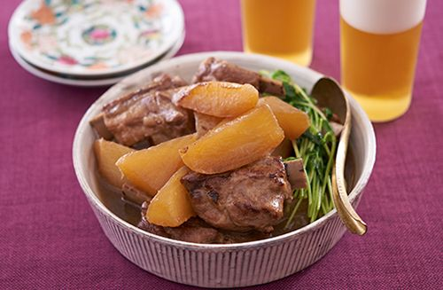焼き大根とスペアリブの煮込み | お酒にピッタリ!おすすめレシピ | サッポロビール