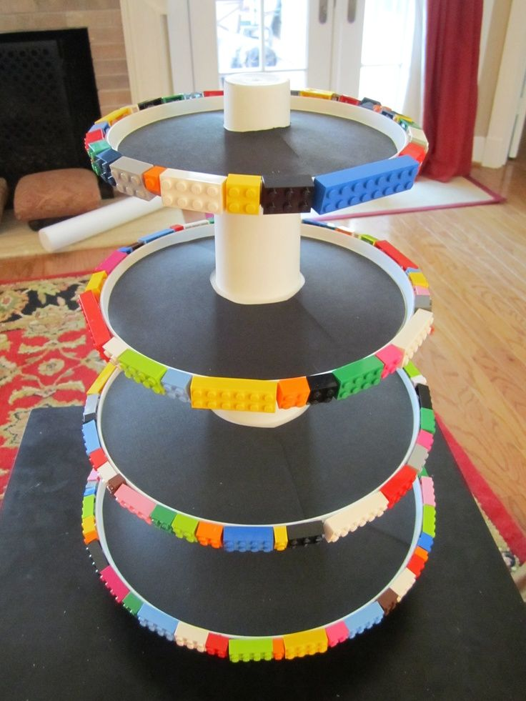 DIY idea for a lego cake stand