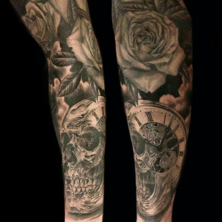 19 best images about sleeve motiv on pinterest hot tattoos the skulls and clock. Black Bedroom Furniture Sets. Home Design Ideas