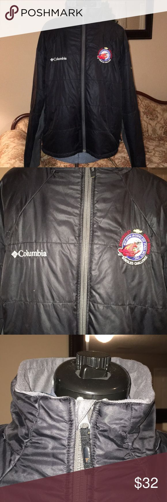 "Columbia Sportswear Company Titanium Jacket Size XL Black with grey trim Titanium Jacket whose sleeves measure 24 1/2"",  Chest 43"" overall length is 26 1/2"".  It has front pockets along with one interior pocket on the left.  The front zipper measures 26"". Columbia Jackets & Coats"