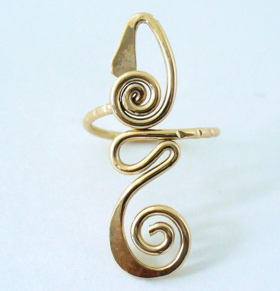12k Gold Filled Long Toe Ring FREE SHIPPING by forkwhisperer, $25.00