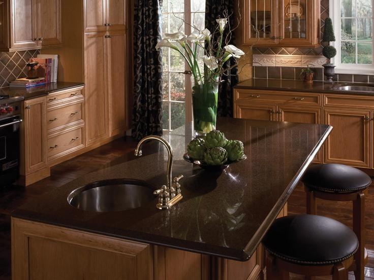 Silestone countertop coffee brown new house - Silestone showroom ...