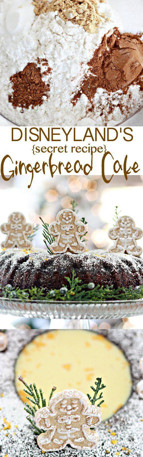Disneyland's Gingerbread Cake with Orange Sauce Recipe