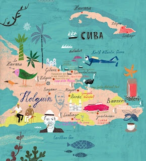 AWESOME map of Cuba for Thomas Cook!