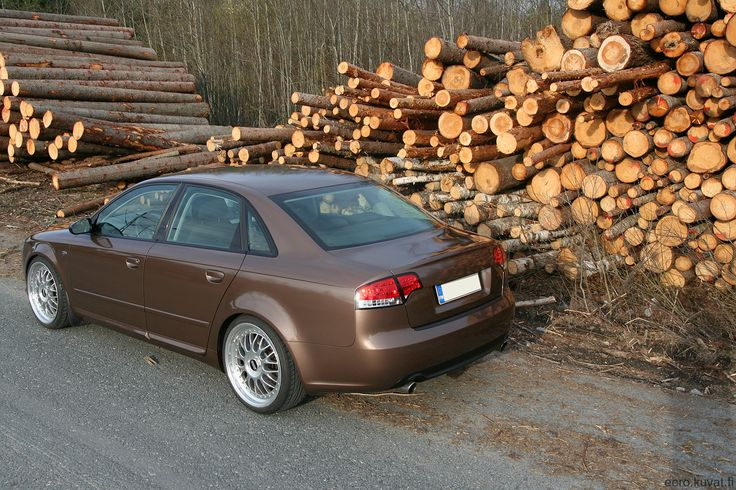 Metallic brown wrapped Audi A4 B7 by http://shop.eteippi.fi/ #BBS