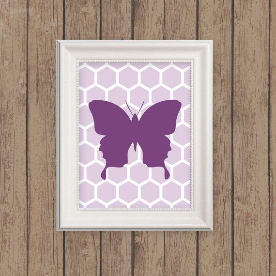 Butterfly Nursery Print  Butterfly Nursery by MooseberryPrintShop, $18.00