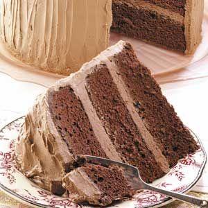 Sour Cream Chocolate Cake Recipe from Taste of Home