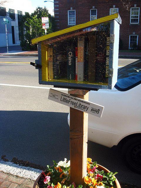 Little Free Library on Cambridge Street. DiscoverMidCambridge.com