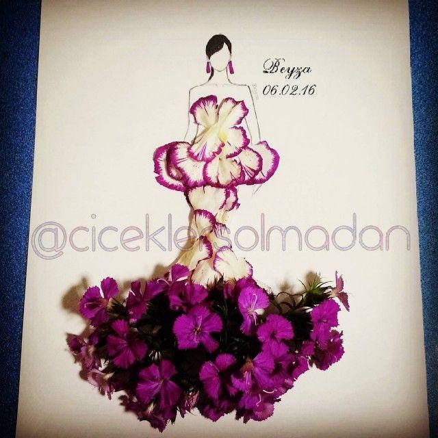 Sanatlı Bi Blog Çiçeklerle Minyatür Kadın Elbiseleri Oluşturan Sanatçı: 'Beyza Gonca Güner' 2