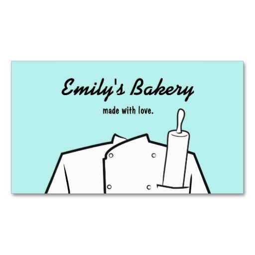 46 best bakery and pastry chef business cards images on pinterest retro catering bakery pastry chef rolling pin business card reheart Image collections