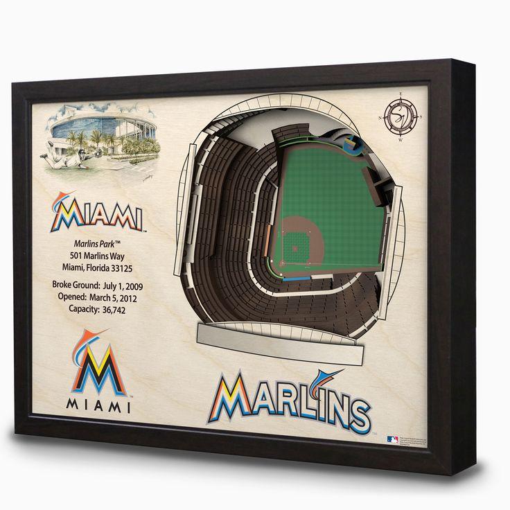 Miami Marlins Marlins Park Stadium 3D View Wall Art