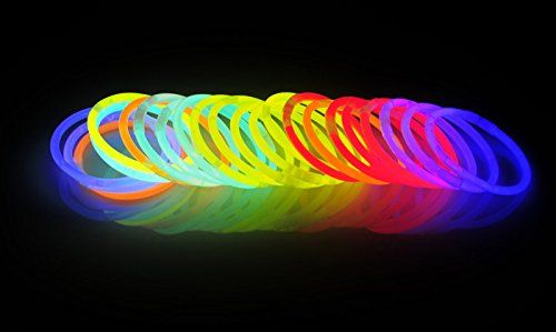 "Light up your party with a 300 pack of 8"" glow sticks. Also available in 100 and 200 counts."