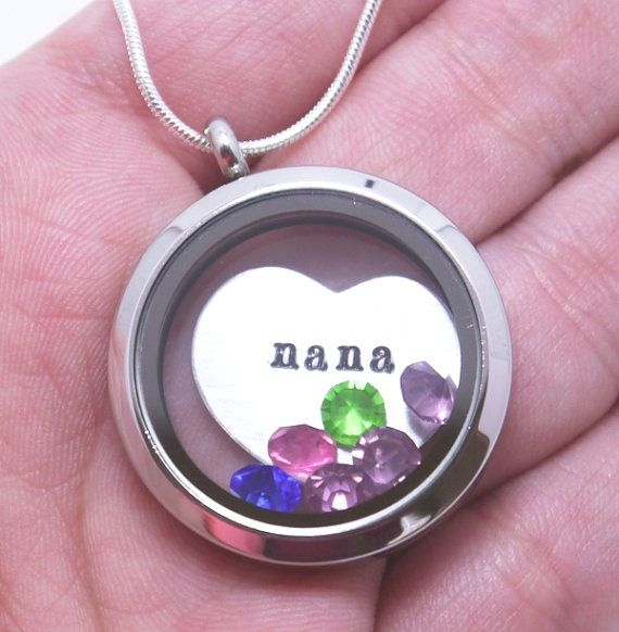 Hey, I found this really awesome Etsy listing at https://www.etsy.com/listing/174448688/personalized-nana-necklace-floating