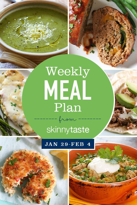 Skinnytaste Meal Plan (January 29-February 4)