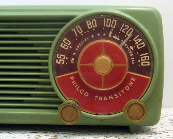 vintage philco tube radio My father had one like this  that he listened to in the morning. We would take it and turn it to a rock station, just to hear him yell in the morning. The Beatles did not go over well.