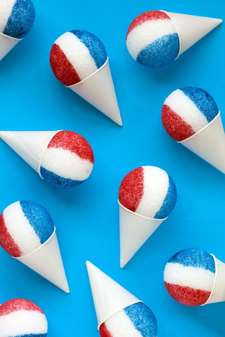 DIY Red, White & Blue Snow Cone Garland Paint the Gown