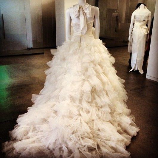 abito da sposa White Vera Wang Spring 2013 -  Colinweddings da instagram