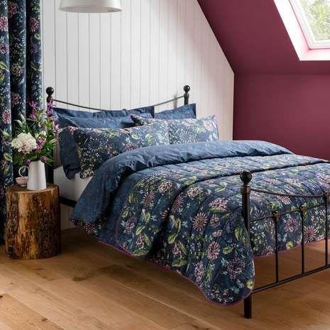 Elvedon Blue Bed Linen Collection | Dunelm