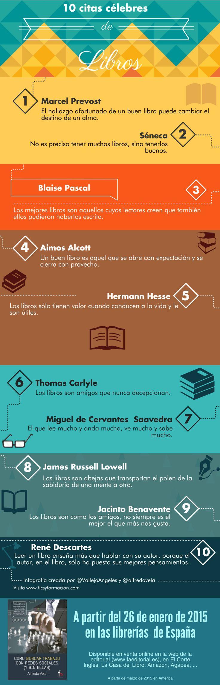 10 citas célebres sobre los libros #infografia #infographic #citas #quotes
