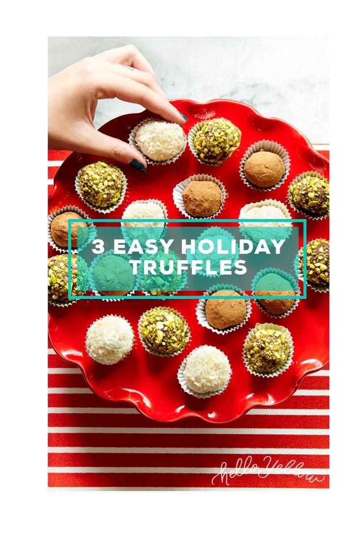 Chocolate Truffles (3 ways) #LeonsHelloHoliday