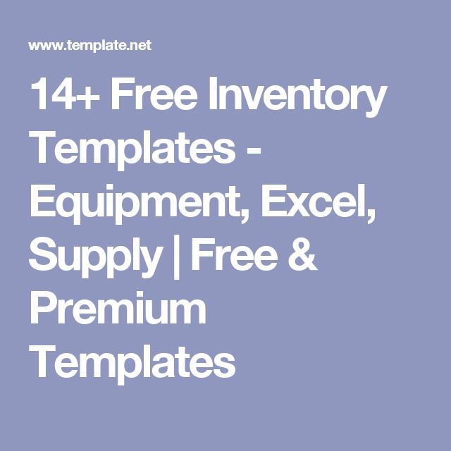 14+ Free Inventory Templates - Equipment, Excel, Supply Free - free inventory templates