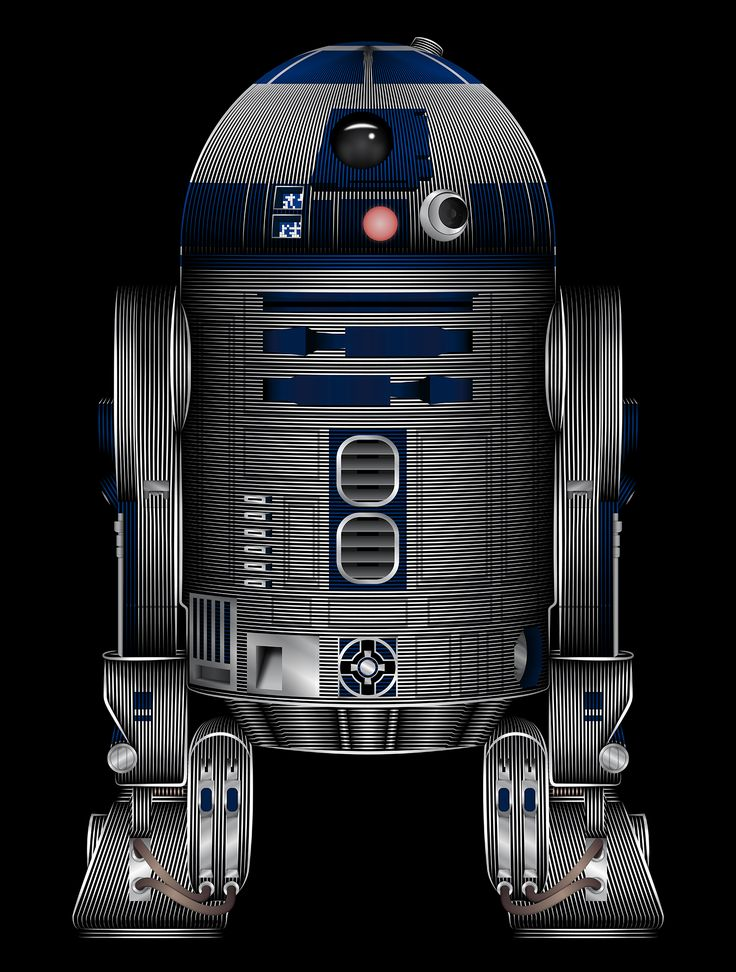 Star Wars R2-D2 Art Print by Nathan Owens