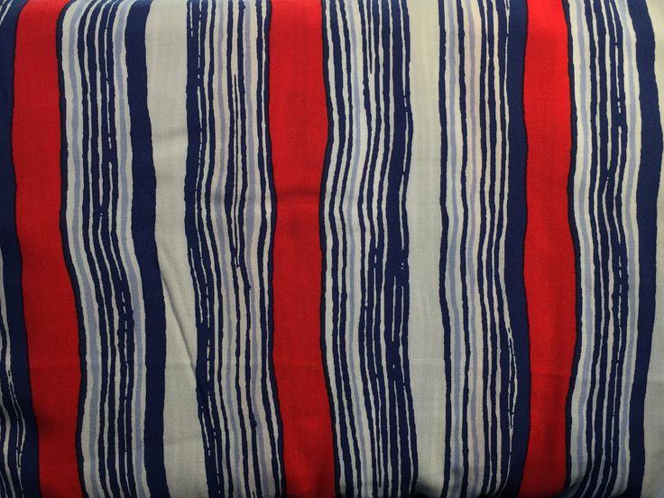 14.02.2017: Viskose Gewebe Streifen blau rot weiß Milliblu´s (#14490)