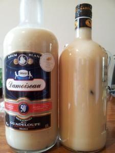 Punch Coco & Lait concentré sucré (V2) - Recette, préparation et conseils sur Rhum arrangé .fr   (macération 1 semaine) Se conserve plusieurs mois sans problème...     une boite de 400ml de lait de coco (ou l'équivalent maison 2 noix de coco sèche) (Noix de Coco) (Noix)     1/2 boite de lait concentré sucré     20cl de Sirop de Sucre de canne maison     (Voir la recette)     70cl de rhum     une gousse de vanille     cannelle fraîchement rapée     muscade rapé