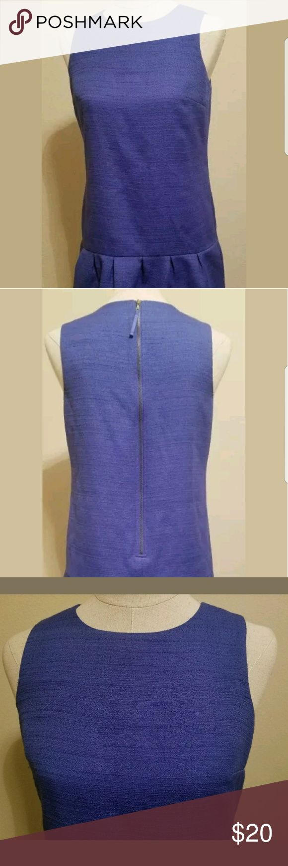 Ann Taylor LOFT Dress Drop Waist TextureSize 6P Ann Taylor LOFT Dress Drop Waist Texture  Size 6P Color Royal Blue  Pre owned im good condition.  Dress had a lower waist line and short, above the knee.  All items packaged with care.  Thanks for looking! LOFT Dresses
