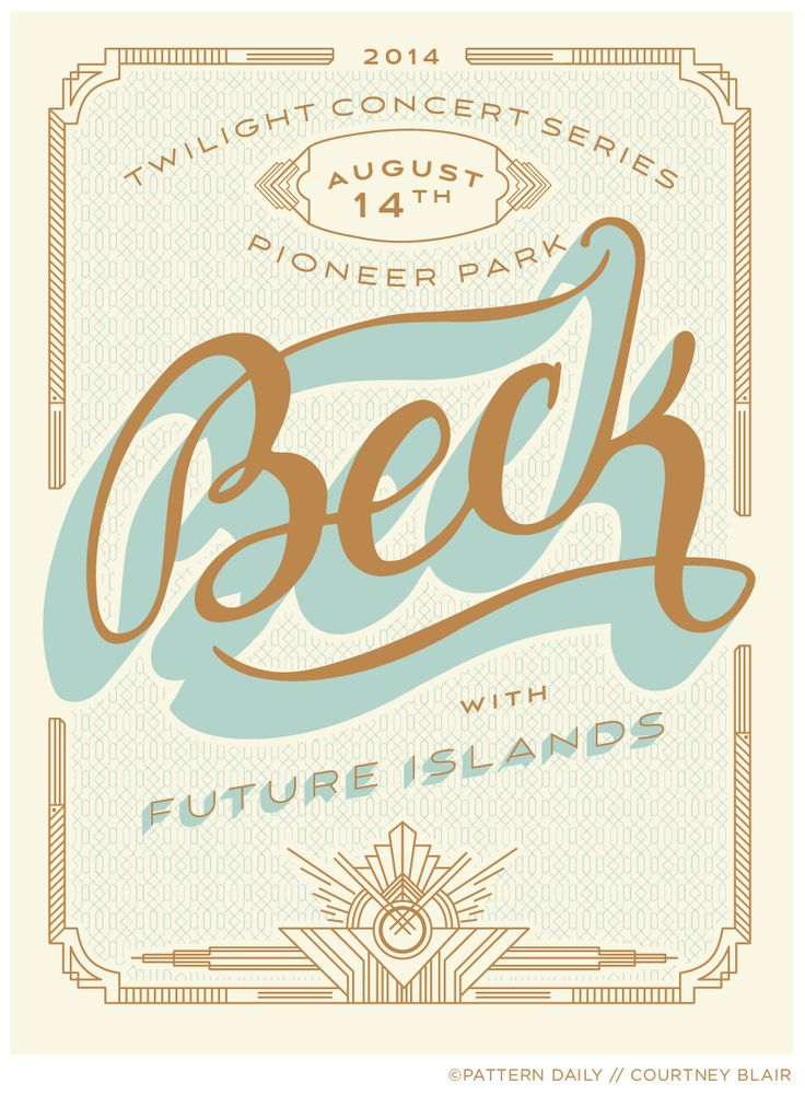 Beck Gig Poster by Courtney Blair