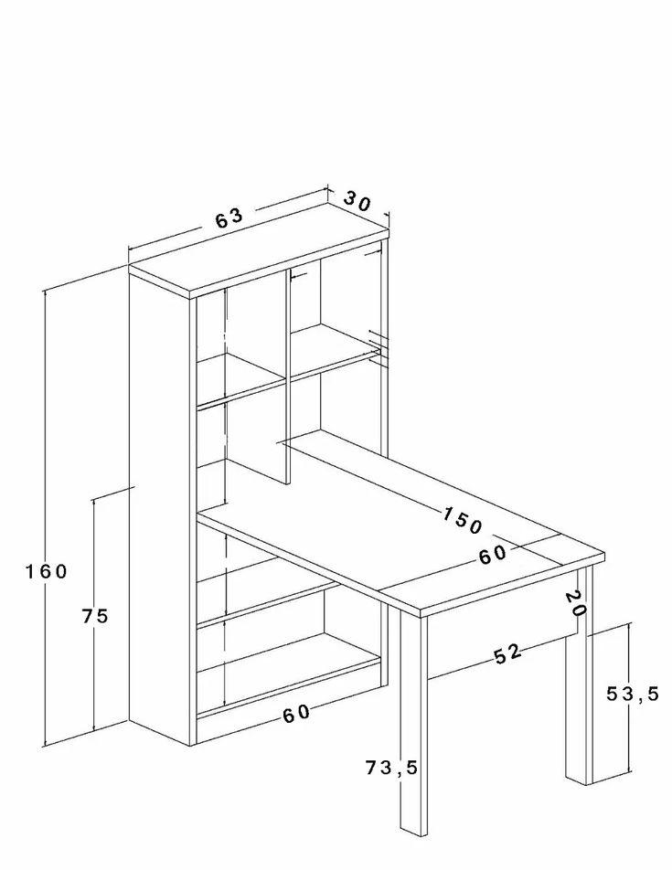 escritorio moderno con estantes...modelo boconcept