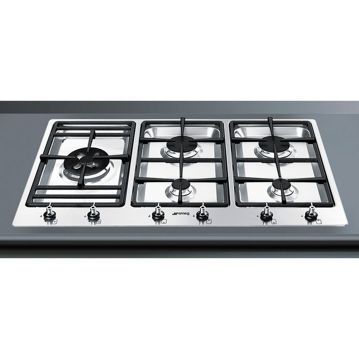 Smeg 90cm Gas Cooktop Stainless Steel Download product specification PDF