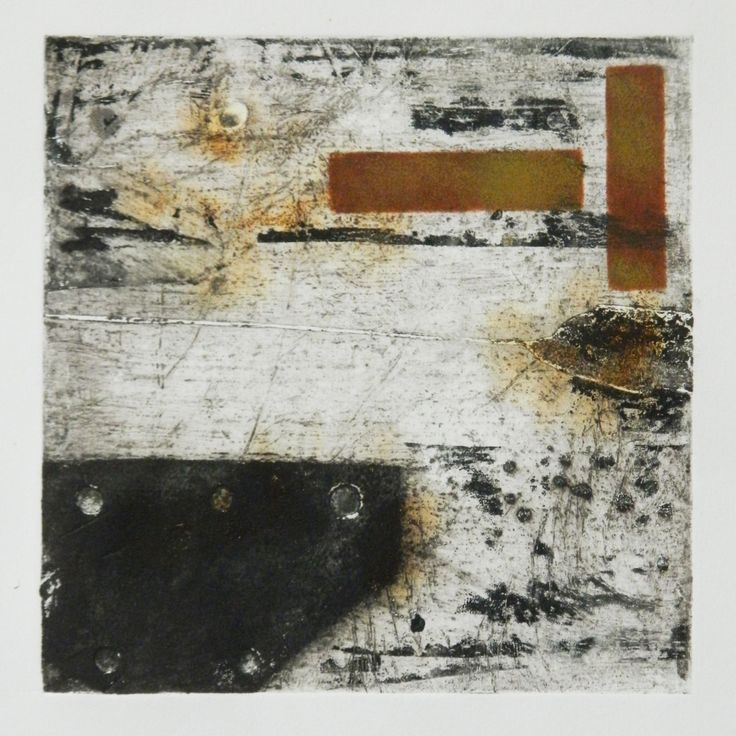 Urban Fragments II by SALLY HIRST  Collagraph Fine Art print urban industrial