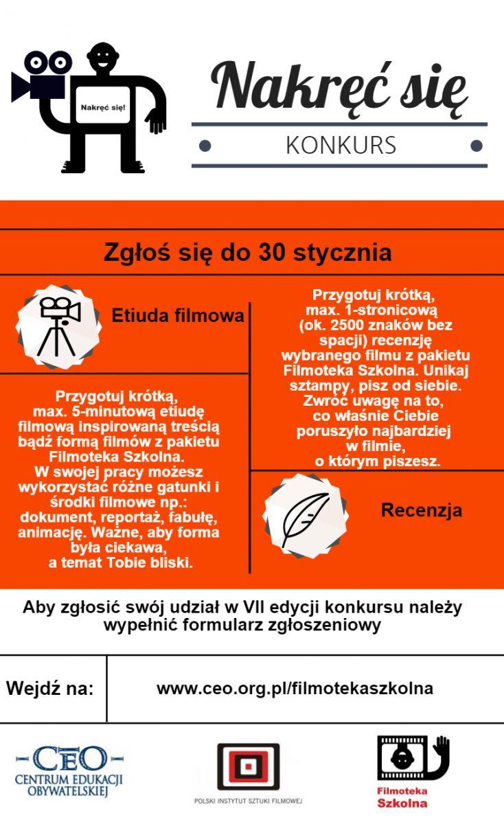 """Nowa edycja konkursu """"Nakręć się"""" dla młodych filmowców"""