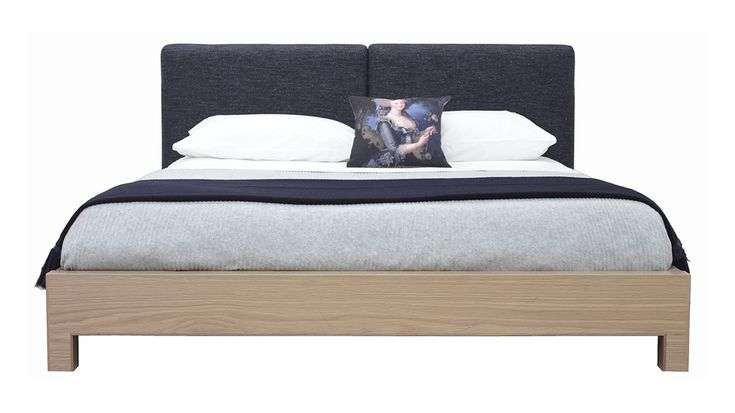 Fully Upholstered Split Bedhead With American Oak Timber Side Rails And Foot.Premium Posturepedic Slats For Optimum Back Support And Comfort.Made To Order In American Oak In Your Choice Of Finish