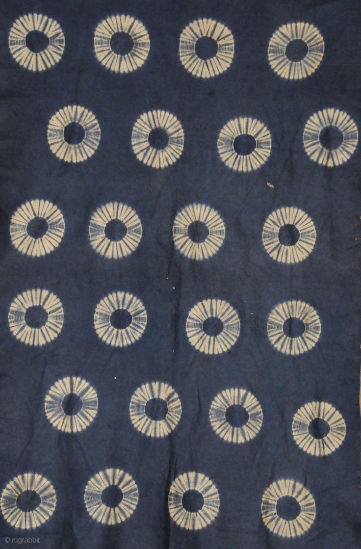Resist dyed felt,  Indigo dye  Japan  Late 19th/ early 20th Century