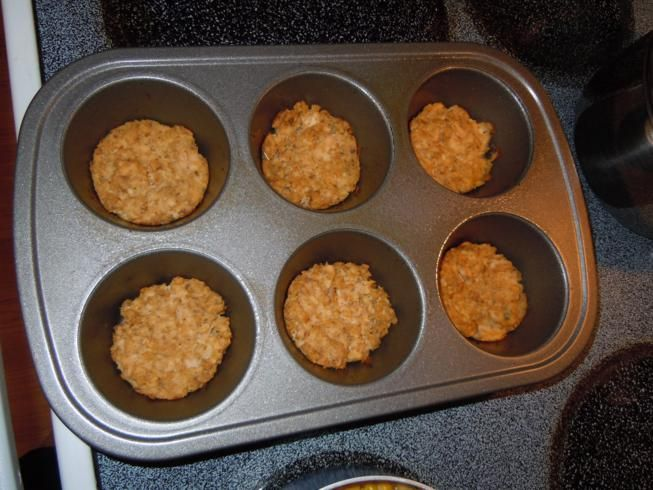 Baked Salmon Patties: I have loved these since I was a kid. but I hate frying them.