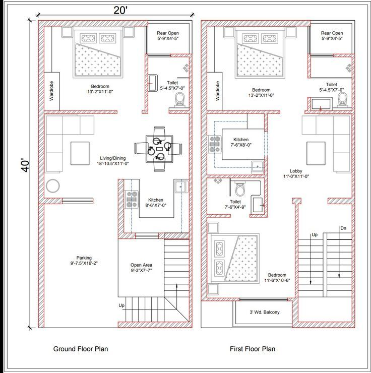 20 40 Planning For Rental Use Owner Requirements Budget House Plans Single Storey House Plans 20x40 House Plans
